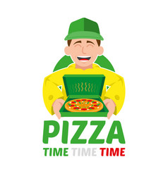 Fast pizza delivery vector
