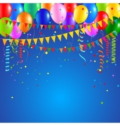Festive party balloons vector image