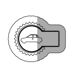 Figure emblem car side icon vector