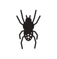 Flat icon in black and white style spider insect vector