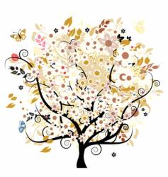 floral tree vector image