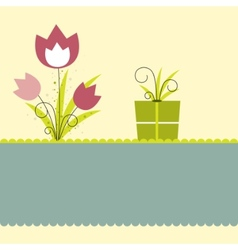 flower illustration vector image
