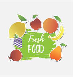 fresh food banner vector image