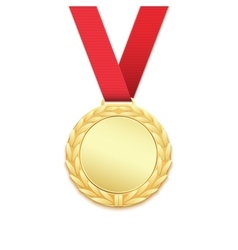 Gold medal winners award vector image