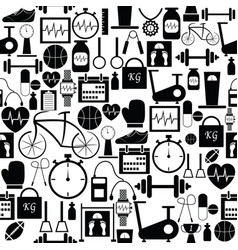 Gym seamless pattern background icon vector