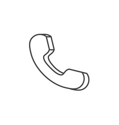 handset related line icon vector image
