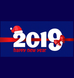 happy new year 2019 background greeting card vector image
