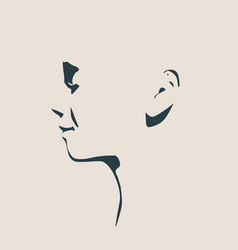 head silhouette face side view vector image