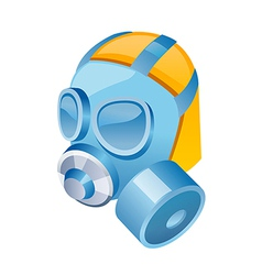 icon gas mask vector image