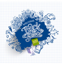 ink drawn back to school blob vector image