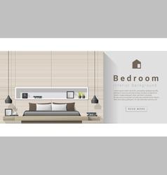 Interior design modern bedroom background 4 vector