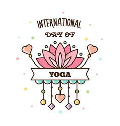 International day of yoga vector