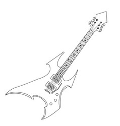 Isolated electric guitar vector