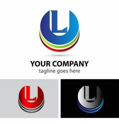 Letter L logo icon vector