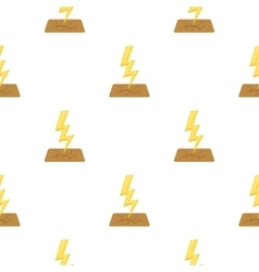 Lightning bolt icon in cartoon style isolated on vector