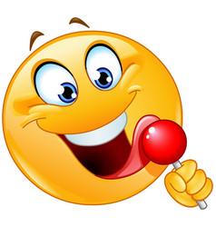 Lollipop emoticon vector