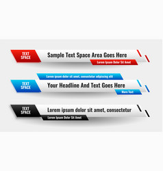 Modern abstract lower third stylish banner design vector