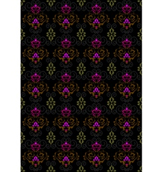 Motley seamless background with floral ornament vector