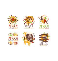 original african logo or badge design set vector image