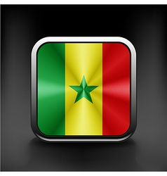 Original and simple Senegal flag isolated vector