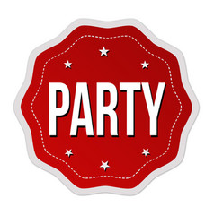 Party label or sticker vector