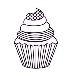 Patriotic cupcake isolated icon design vector