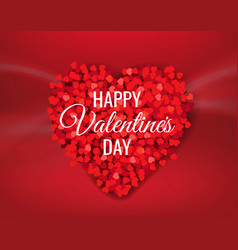 red valentines day banner with heart vector image