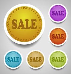 Sale stitched labels vector