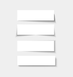 set banners with shadows empty rectangle vector image