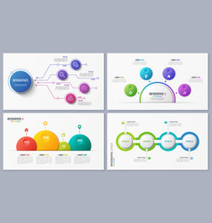 set of contemporary infographic designs concepts vector image