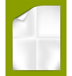 Sheet folded paper vector