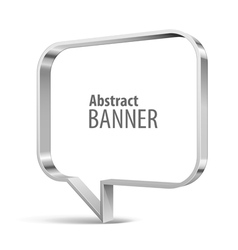 Shiny metal banner vector image