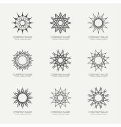 Simple monochrome geometric abstract symmetric vector image