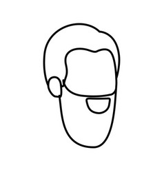 Sketch silhouette of man faceless with long beard vector