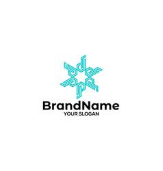 Star in letter jp logo design vector