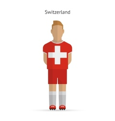 Switzerland football player Soccer uniform vector