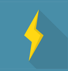 thunderstorm icon flat style vector image