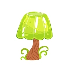 Tree With Jelly Crown And Chocolate Trunk Fantasy vector image
