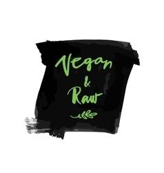 Vegan raw label vector