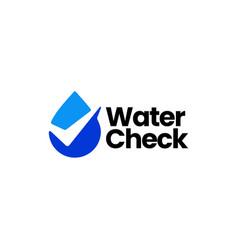 water drop check logo icon vector image