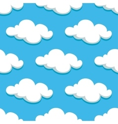 White clouds and sky seamless pattern vector image