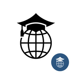 world global education logo learning for adults vector image