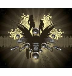 audio gorilla vector image vector image