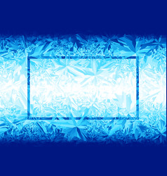 blue ice background vector image