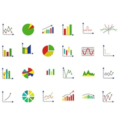 Charts icons set vector image vector image