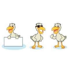 Pelican Mascot happy vector image