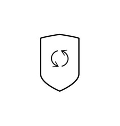 security update icon vector image