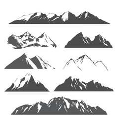 set of mountains on white vector image vector image