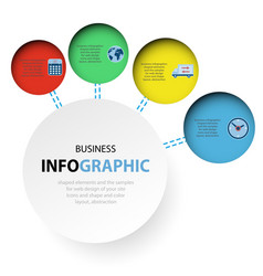abstract circle infographics web design marketing vector image