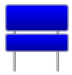 Blank blue road sign vector image